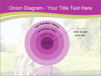 Woman riding a bicycle PowerPoint Templates - Slide 61