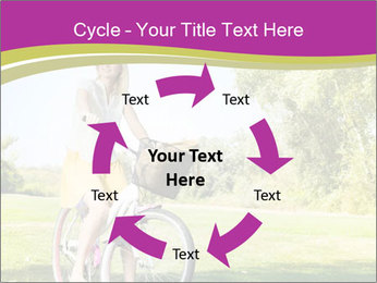 Woman riding a bicycle PowerPoint Template - Slide 62