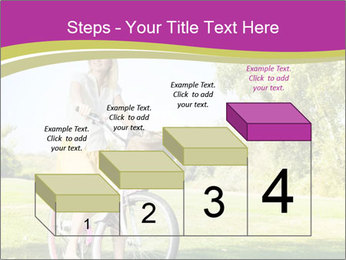 Woman riding a bicycle PowerPoint Templates - Slide 64
