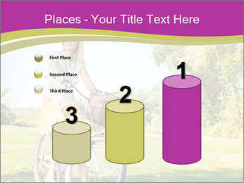 Woman riding a bicycle PowerPoint Templates - Slide 65