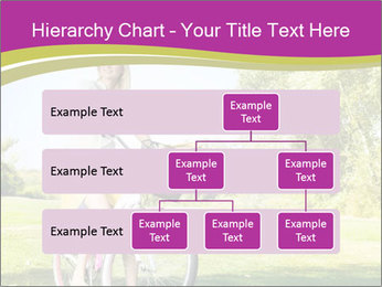 Woman riding a bicycle PowerPoint Templates - Slide 67