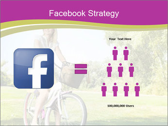Woman riding a bicycle PowerPoint Templates - Slide 7