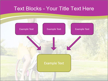 Woman riding a bicycle PowerPoint Template - Slide 70
