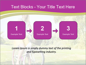 Woman riding a bicycle PowerPoint Template - Slide 71