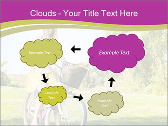 Woman riding a bicycle PowerPoint Template - Slide 72