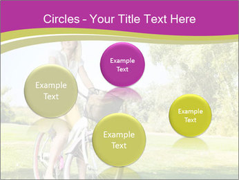 Woman riding a bicycle PowerPoint Template - Slide 77