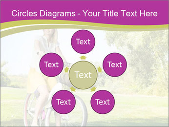 Woman riding a bicycle PowerPoint Template - Slide 78
