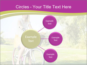 Woman riding a bicycle PowerPoint Template - Slide 79