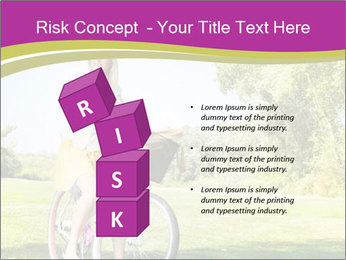 Woman riding a bicycle PowerPoint Template - Slide 81