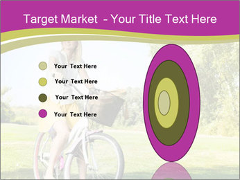 Woman riding a bicycle PowerPoint Templates - Slide 84