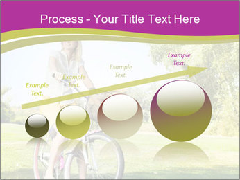 Woman riding a bicycle PowerPoint Templates - Slide 87