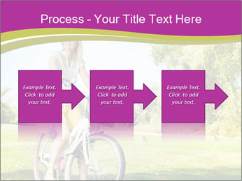 Woman riding a bicycle PowerPoint Templates - Slide 88