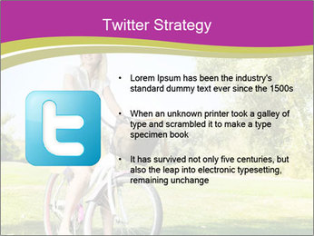 Woman riding a bicycle PowerPoint Templates - Slide 9