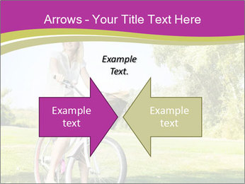 Woman riding a bicycle PowerPoint Templates - Slide 90