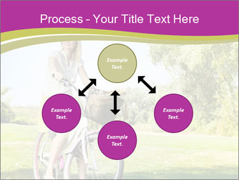 Woman riding a bicycle PowerPoint Template - Slide 91