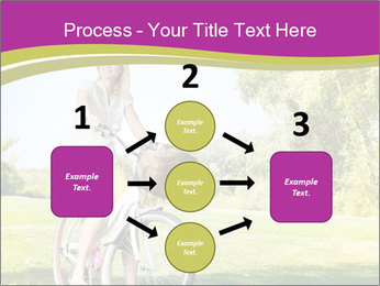 Woman riding a bicycle PowerPoint Template - Slide 92