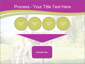 Woman riding a bicycle PowerPoint Templates - Slide 93