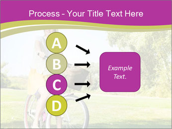 Woman riding a bicycle PowerPoint Templates - Slide 94
