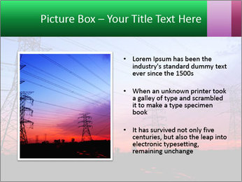 Electricity pylons PowerPoint Template - Slide 13