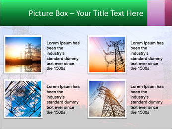 Electricity pylons PowerPoint Template - Slide 14