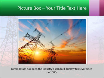 Electricity pylons PowerPoint Template - Slide 15