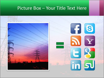 Electricity pylons PowerPoint Template - Slide 21