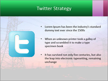Electricity pylons PowerPoint Template - Slide 9