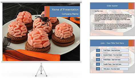 Funny cookie PowerPoint Template