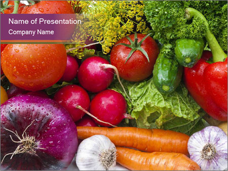 Group of vegetables PowerPoint Template