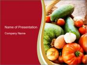 Summer vegetables PowerPoint Templates