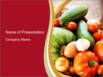Summer vegetables PowerPoint Templates - Slide 1