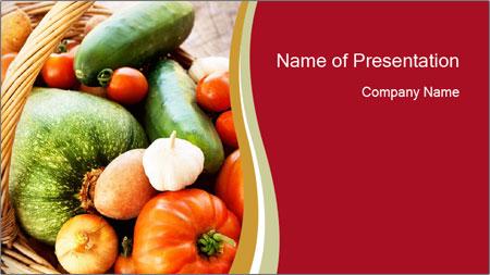 Summer vegetables PowerPoint Template
