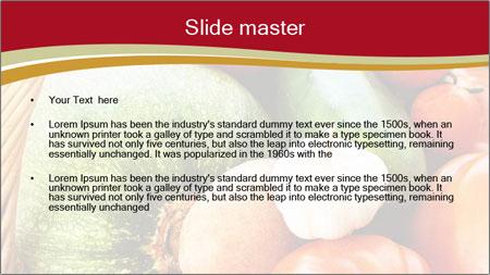 Summer vegetables PowerPoint Template - Slide 2