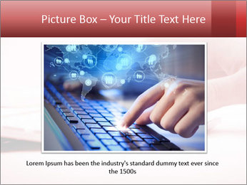 Woman's hand PowerPoint Template - Slide 16