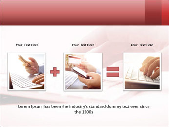 Woman's hand PowerPoint Template - Slide 22