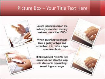 Woman's hand PowerPoint Template - Slide 24
