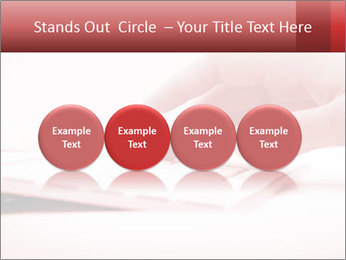 Woman's hand PowerPoint Template - Slide 76