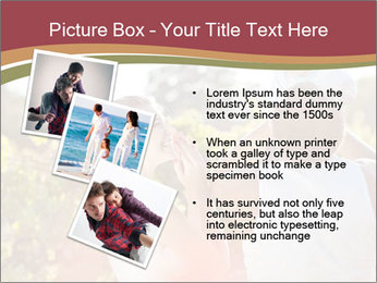 Young and happy family PowerPoint Template - Slide 17