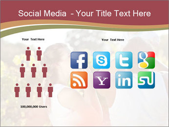 Young and happy family PowerPoint Template - Slide 5