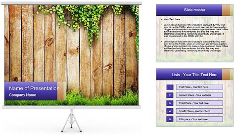 Fresh spring green grass PowerPoint Template