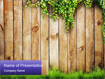 Fresh spring green grass PowerPoint Template