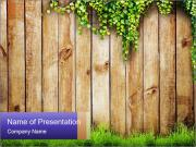 Fresh spring green grass PowerPoint Templates