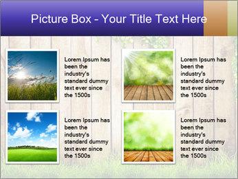 Fresh spring green grass PowerPoint Template - Slide 14