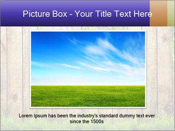 Fresh spring green grass PowerPoint Template - Slide 16
