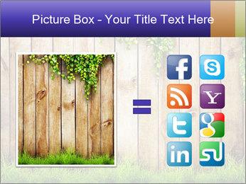 Fresh spring green grass PowerPoint Template - Slide 21