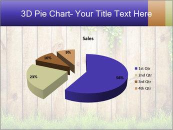 Fresh spring green grass PowerPoint Template - Slide 35