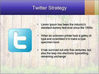 Fresh spring green grass PowerPoint Template - Slide 9