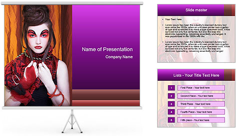 Creative lady PowerPoint Template