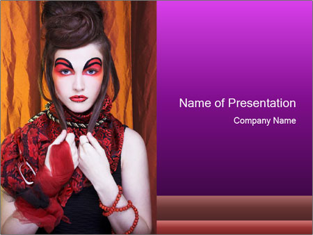Creative lady PowerPoint Templates