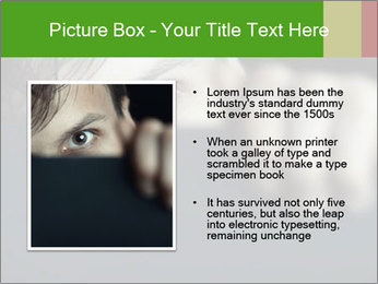 Man behind the black board PowerPoint Templates - Slide 13